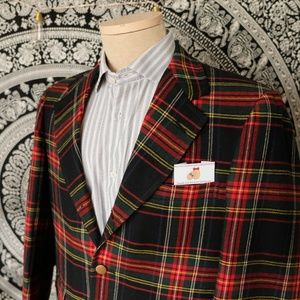 Other - Men's Plaid Two Button Blazer